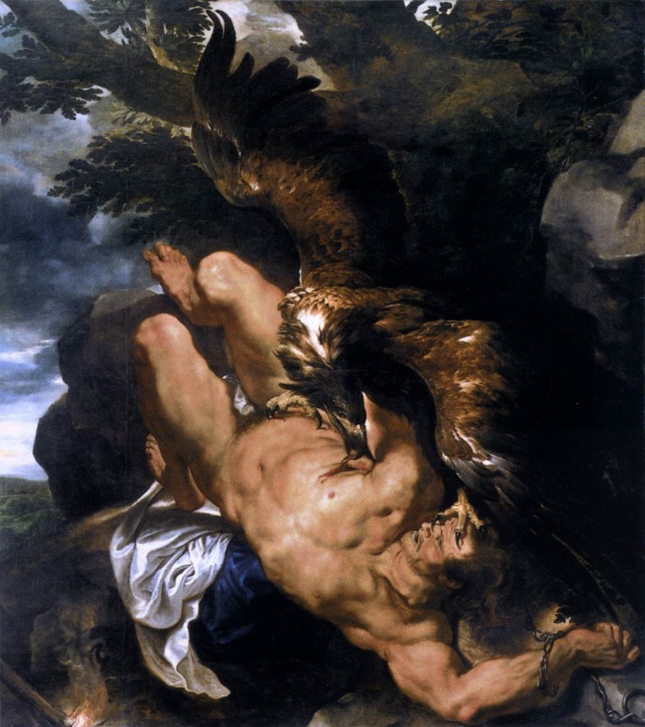 Prometheus Bound Perter Paul Rubens, Frans Snyders 1612, 242.6 x 209.5 cm
