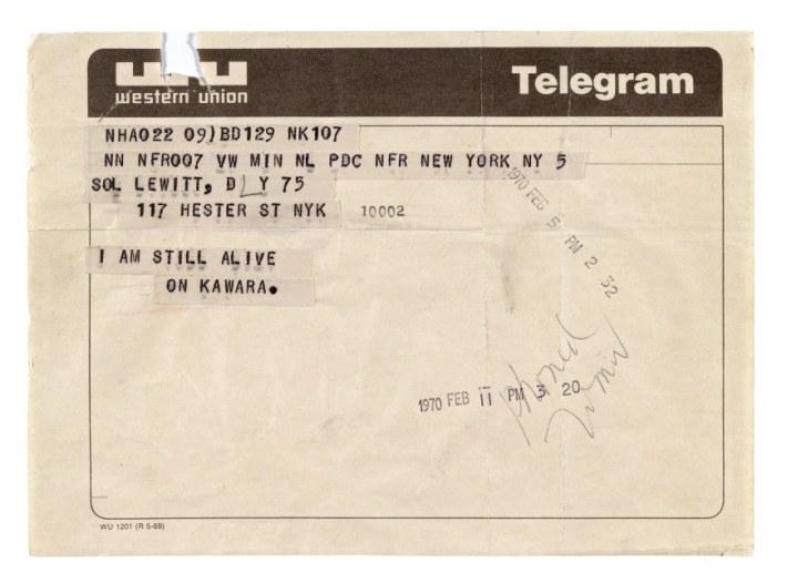 art-on-kawara-telegram-to-sol-lewitt-i-am-still-alive